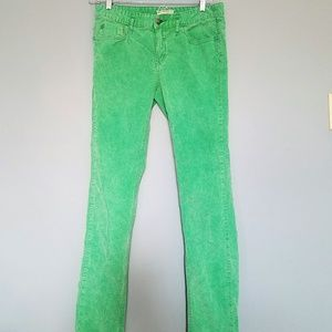 Free People Green Corduroy Jeans, Size 30
